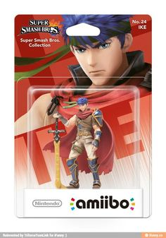 Moe Mercenaries!!! Ike from Fire Emblem: Path of Radiance. He cameod in Smash Brothers so they made him an action figure!