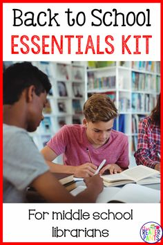 This kit is huge and perfect for new middle school librarians! It includes display signs, read-alike bookmarks, library promotional materials, reading incentives, and your first five library lessons. The New School, New School Year, High School, Library Lessons, Library Ideas, Reading Incentives, Middle School Libraries, Information Literacy, Back To School Essentials