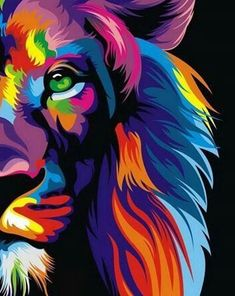 Shared by ella. Find images and videos about wallpaper, colors and background on We Heart It - the app to get lost in what you love. African Art Paintings, Animal Paintings, Lion Painting, Painting & Drawing, Tableau Pop Art, Lion Wallpaper, Lion Pictures, Lion Art, Cat Art