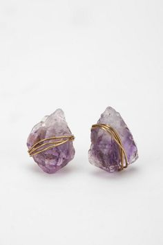 Wrapped Shimmery Mineral Post Earrings $24.00 #UrbanOutfitters, I love these!