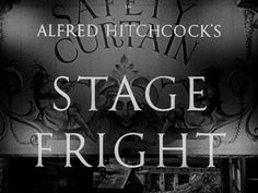 Stage fright movie title