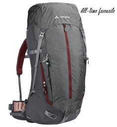 The Brentour 45+10 trekking backpack provides a lot of comfort through the individually adjustable back. The load transmission is great and it is well ventilated, plus sustainable and durable.