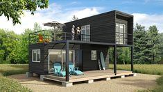 Tiny House Shipping Container, Cargo Container Homes, Building A Container Home, Container Cabin, Container Buildings, Container Architecture, Container House Plans, Architecture Design, Dome House