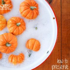How To Preserve Pumpkins For Fall Decorating