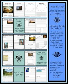 Check out a week of the notebooking journal for Bible Road Trip!