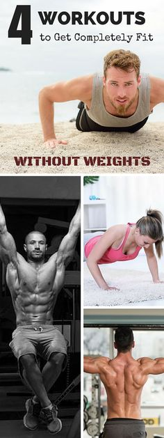 Check out the 4 workouts you need to get completely fit! #fitness