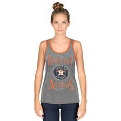 Houston Astros Majestic Threads Women's Premium Tri-Blend Racerback Tank Top - Gray - $26.99