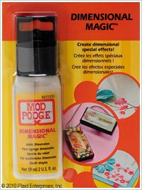 Mod Podge ® Dimensional Magic. this stuff is so cool! puts a raised, glossy finish on anything.