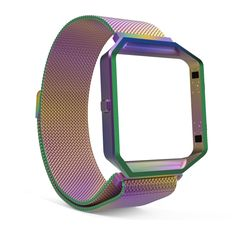 Fitbit Blaze Accessories Band+ Metal Frame Housing with Magnet Lock Milanese Loop Stainless Steel Bracelet Smart Fitness Watch