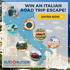 Enter to Win an Italian Road Trip Escape! Vacation Places, Dream Vacations, European Road Trip, Italian Lifestyle, Travel Advisory, Me Time, Road Trip Hacks, Enter To Win, France Travel