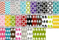 Changing pad cover Choose your print by HouseofHenderson on Etsy, $22.95