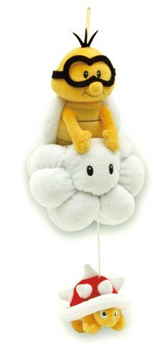 "Sanei Super Mario Plush Series Plush Doll 8"" Lakitu/Jyugemu Plush Japanese Import Sanei,http://www.amazon.com/dp/B004DNXA5C/ref=cm_sw_r_pi_dp_aRwBtb093R1X76JD"
