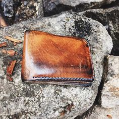 Close up on the killer patina on @brock_road's English tan Bifold! It's always so great to see how our products are doing down the road. If you have a Loyal Stricklin product that has been aging beautifully, send us a photo at info@loyalstricklin.com or hashtag #loyalstricklin! #wallet #bifold #leather #handmade
