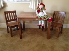 Children's Table and 2 Chairs Set 12 seat height by ShowOffDesigns