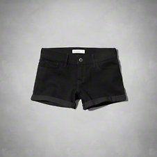 girls a&f low rise midi shorts