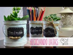 DIY ::: Reciclando Latas - By Fê Atelier - YouTube
