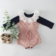 Baby Knitted Clothes Autumn Knit Baby Rompers Girl Pompom Baby Girl Romper Boys Jumpsuit Overall Newnborn Infant Baby Clothes : Baby Knitted Clothes Autumn Knit Baby Rompers Girl Pompom Baby Girl Ro – eosegal Baby Summer Dresses, Summer Dress Patterns, Baby Outfits Newborn, Baby Boy Outfits, Kids Outfits, Knitted Baby Clothes, Knitted Romper, Baby Girl Romper, Baby Bodysuit