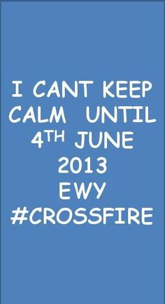 #Crossfire. So Glad this book finally comes out tomorrow!