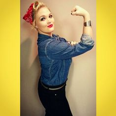 Pin for Later: 47 Last-Minute Costume Ideas That Are Completely Office Appropriate Rosie the Riveter What You'll Need: A denim shirt and a bandana for your hair. Strike this pose in every picture so people know exactly who you are!