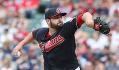 Cleveland Indians relief pitcher Nick Goody got the Indians out of a base loaded jam in the 6th inning against the Seattle Mariners at Progressive Field, on April 30, 2017.    (Chuck Crow/The Plain Dealer).Indians won 12-4