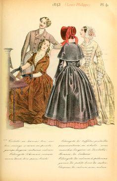 1843 - La mode pendant quarante ans de 1830 à 1870 by Louis Colas
