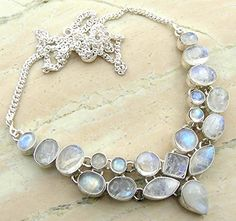 Genuine Moonstone 925 Silver Overlay Handmade Fashion Necklace Jewelry  http://stylexotic.com/genuine-moonstone-925-silver-overlay-handmade-fashion-necklace-jewelry/
