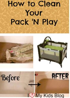 Before putting your little baby in your pack n play, give it a good scrub. You'd be surprised how dirty it really is!