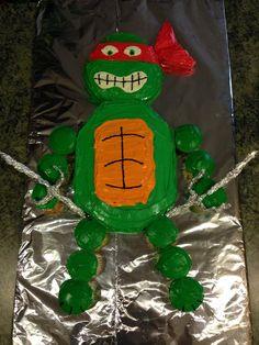 Ninja Turtles cake..... Raphael