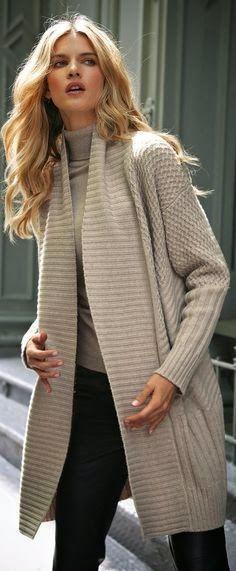 Women's fashion street styles long sweater