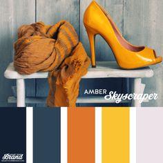 Amber. Honey tones. Navy. Brand identity color palette inspiration. #brandidentity #colorpalette - www.heartyourbrand.com