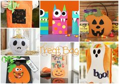 Sacos Doçura ou Travessura para o Halloween Halloween Carnival, Halloween Crafts, Trick Or Treat, Kindergarten, Holiday Decor, Creative Activities, Toddler Activities, Wraps, Halloween