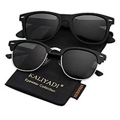 Polarized Sunglasses for Men and Women Semi-Rimless Frame Driving Sun glasses UV Blocking Clubmaster Sunglasses, Polarized Sunglasses, Mens Sunglasses, Birthday Gifts For Brother, Rimless Frames, Ladies Party, Day Use, Matte Black, Ebay