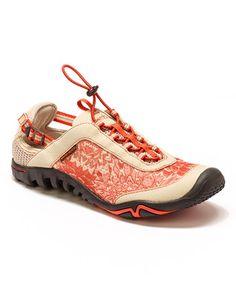 Coral & Tan Raven Leather Sneaker