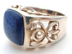 Lapis Lazuli Ring Sterling Silver Size 7