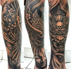 sleeve - - sleeves - - tattoo tattoo tattoo calf tattoo ideas tattoo men calves tattoo thigh leg tattoo for men on leg leg tattoo Tattoo Calf, Leg Sleeve Tattoo, Leg Tattoo Men, Full Sleeve Tattoos, Tattoo Sleeve Designs, Forearm Tattoos, Body Art Tattoos, Tattoo Thigh, Ankle Tattoo