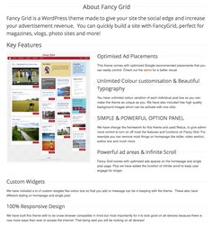 WordPress premium theme that is Pinterest clone.  Is responsive, has infinite scrolling, ad optimization, etc.  Would be good for a photo / video based wp site Best Wordpress Themes, Wordpress Plugins, Theme List, Wordpress Premium, Advertising, Ads, Infinite, Affiliate Marketing, Photo And Video