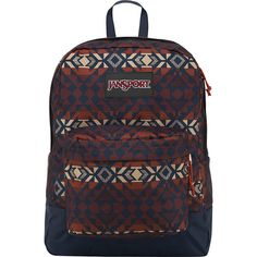 JanSport SuperBreak Backpack ($25) ❤ liked on Polyvore featuring bags, backpacks, blue, school & day hiking backpacks, jansport bags, jansport, utility backpack, padded backpack and backpack bags
