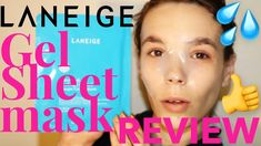 LANEIGE WATER BANK SOOTHING GEL SHEET MASK REVIEW - MAKEUP CITY TUTORIALS