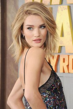 The tousled lob on Rosie Huntington-Whiteley. Ready for a change this summer? Try one of the season's 10 hottest haircuts.