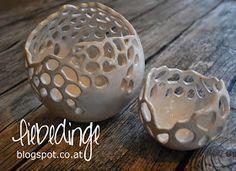 liebedinge: keramik windlichter - #Keramik #liebedinge #porcelaine #Windlichter
