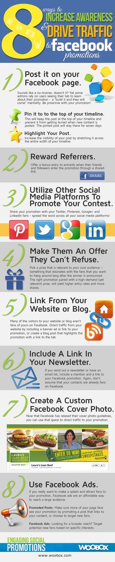 8 Ways to Promote your Facebook Promotions! [infographic]