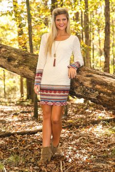 Way Out West Dress-Ivory