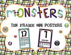 Monster Ten Frame Mini Posters