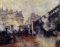 The Pont de l'Europe, Saint-Lazare Station - Claude Monet - The Athenaeum