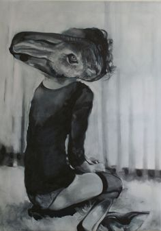 "Saatchi Online Artist: Pirotte Nathalie; Oil, 2012, Painting ""Aspettare"" #art"