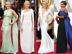 Capes  When better to go for a little drama than the Oscars? Plus, a caped train is practically made for those famous stairs.  From left: Kate Winslet in 2007, Gwyneth Paltrow in 2012, Kate Hudson in 2014, Mindy Kaling in 2016