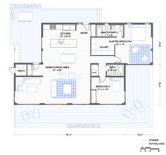 Blu Homes Balance floorplan 2 bedroom