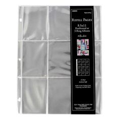 100 BCW 3-Pocket LARGE Size 3.5 x 8 Currency Paper Money Binder Pages WITH BOX
