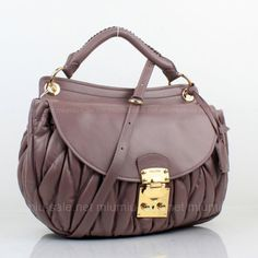 Miu Miu Purple Matelasse Lambskin Leather Sholder Strap Bags