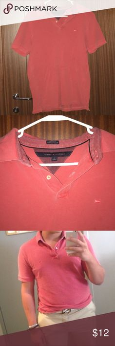 Tommy Hilfiger Mens Custom Fit Polo WORN ONCE !!!! Salmon Color, very nice & goes great with Khakis !! Tommy Hilfiger Shirts Polos
